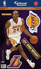 """KOBE BRYANT LOS ANGELES LAKERS 2019 11""""X17"""" 4 PIECE FATHEAD WALL GRAPHIC DECALS"""