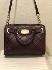 Michael Kors Quilted Leather Wine Color