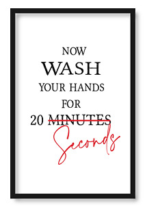 Wash your Hands Wall Art Home Bedroom Kitchen Prints Cooking Bathroom Poster W1