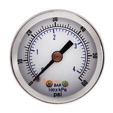 "1/8"" NPT Air Compressor / Hydraulic Pressure Gauge 0-60 PSI Back Mount 1.5"" Face"
