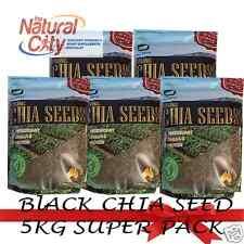 Biosis Organic Chemical Free Black Chia Seed- 5KG (5 X 1kg) Omega3, Fibre