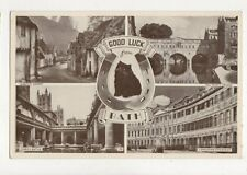 Good Luck From Bath Vintage Postcard 729a
