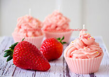 Luxury Handmade Cupcake Candle - Strawberry 130ml highly scented