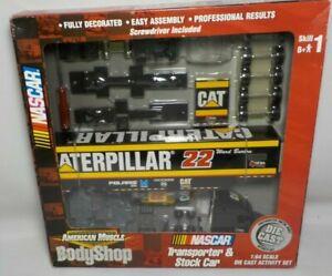 RARE WARD BURTON CATERPILLAR DIECAST TRANSPORTER 7 STOCK CAR BODY SHOP ERTL