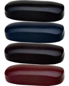 Faux Leather Micro Grain Clamshell Hard Eyewear Case Sunglass Sunnies Eye Glass
