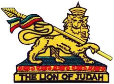 Lion of Judah rasta reggae ganja weed embroidered applique iron-on patch S-1550