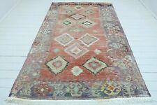 """Turkish Salihli Kilim Rug, Diamond Design Rug, Area Rug Carpet, Wool Rug 67""""x109"""