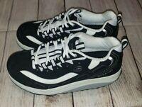 Skechers Shape-Ups Womens Shoes Toning Walking Sneakers Black US 8.5M