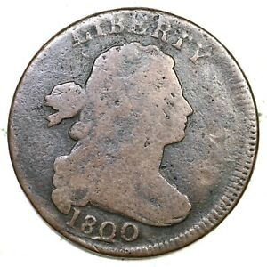 1800 Draped Bust Large Cent Coin 1c