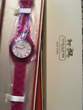 PINK SILICONE LADYS COACH ANDEE BOYFRIEND COACH WATCH New In Box