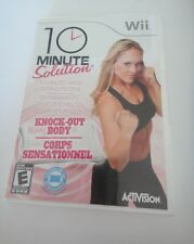NINTENDO WII 10 MINUTE SOLUTION KNOCK OUT GAME
