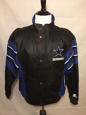 Vintage Dallas Cowboys NFL Pro Line Starters Leather Jacket Size M