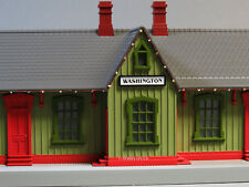 MTH RAIL KING WASHINGTON PASSENGER STATION CHRISTMAS LIGHTS O GAUGE 30-90549 NEW