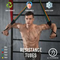 【SYDNEY stock】11Pcs Set Resistance Bands Elastic Tubes Home Gym Fitness Yoga