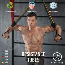 【SYDNEY stock】11Pcs Set Resistance Bands Elastic Tubes Home Gym Fitness Yoga