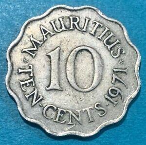 1971 Mauritius 10 Cents Coin