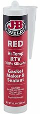 J-B Weld 31914 Red High Temperature RTV Silicone Gasket Maker and Sealant - 10.3