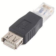 USB Type A Female To RJ45 Male Ethernet LAN Network Socket Plug Adapter. 0352