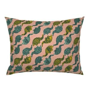 Armadillo Stripe Southwestern Desert Animal Pink Yellow Pillow Sham by Roostery