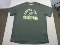 088 MENS NWOT UNDER ARMOUR DK GREEN / LIME PRINT S/S T-SHIRT SZE XXL $90 RRP.