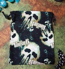 Punisher dice bag, card bag, makeup bag