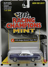 1970 DODGE SCAT PACK BOYS PURPLE SUPER BEE CORONET WHITE 1256 RACING CHAMPIONS