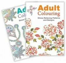 Colour Therapy Anti Stress Relax Adult Colouring Book Mind Relief A4 24 Pages