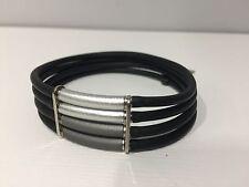 Nuevo - Pulsera Bracelet SEDISTRI - Step by Step - Aluminum & Caoutchouc