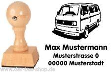 VW Bus T3 a - Bus - Motiv-Holz-Stempel - mit Wunschtext