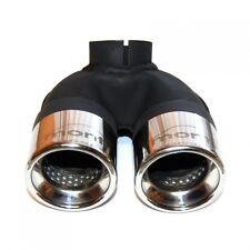 Smart 451 Turbo Benziner ab4.07 - 10.10 2x 60mm Endrohr aus Edelstahl + Schelle