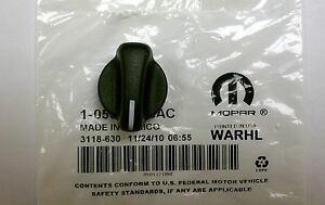 1999-2005 Jeep Wrangler TJ A/C Heater Control FAN MODE TEMP Knob OEM Mopar NEW