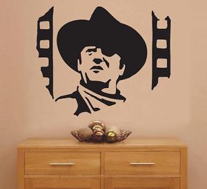 John Wayne Movie Art Sticker Wall Art Decal for Walls Furniture Vehicle 4080100