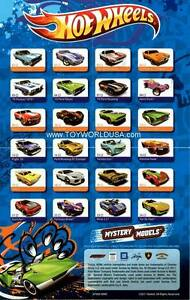 2012 Hot Wheels Mystery Car Models Miniposter Checklist 2nd Release