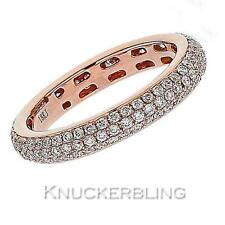 Diamond Wedding Full Eternity Ring 1.00ct F VS Brilliant Cut in 18ct Rose Gold