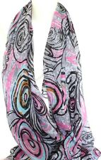 NEW MULTI-COLOURED LARGE FLORAL CIRCLE PRINT MAXI SCARF STOLE SARONG SHAWL WRAP