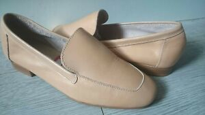 DUNE NATURAL TAN LEATHER LOAFER SHOES.NEW