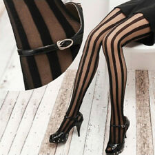 Fashion Women Black Vertical Stripes Pattern Stockings Tights Pantyhose Salable