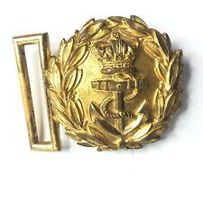 More details for victorian royal navy officers belt buckle 6 x 5 cm's original gilt