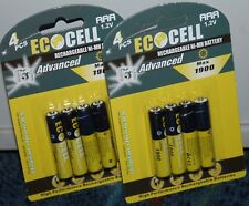 8x AAA 1900 mAh NI-MH AKKU Wiederaufladbar Batterie Accu Rechargeable Micro
