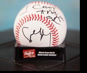 GFA Inscribed: I Can't Throw One COURTNEY LOVE Signed MLB Baseball COA