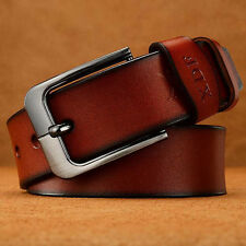Men's Fashion Leather Belt Waist Band Strap Letter Pin Buckle Waistband Casual#B