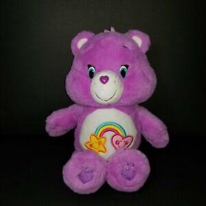 CARE BEARS Medium size Purple BEST FRIENDS Friendship Soft Stuffed Toy