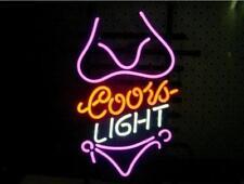 "New Coors Light Pink Bikini Beer Lager Neon Sign 17""x14"""