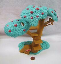 FISHER PRICE Loving Family Dollhouse TREEHOUSE APPLE TREE FORT BACKYARD No Swing