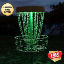 2 LED Disc Golf Basket Light up glow mvp black hole pro innova portable practice