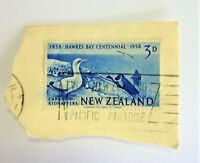 New Zealand Stamp Postmarked,  1858-1958 Hawks Bay Centennial, 3d
