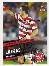 SIGNED TOMI JURIC WESTERN SYDNEY WANDERERS A-LEAGUE 2013/14 SE SOCCEROOS CARD 97