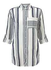 Miss Selfridge Multi Stripe Tie Front Shirt Size UK 6 Box46 28 B