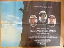 FIVE DAYS ONE SUMMER (1982) - original UK quad film/movie poster, Sean Connery