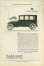 1920 Oakland Motor Car Ad Sensible Six Four Door Sedan Antique Auto Vintage